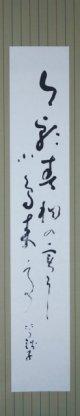 小川芋銭句幅「今朝青桐の」