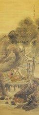 横井金谷画幅「樹下談笑図」