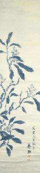 木下杢太郎画幅「枇杷図」
