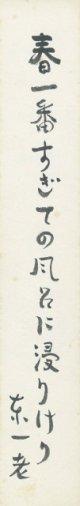 岩佐東一郎短冊「春一番」