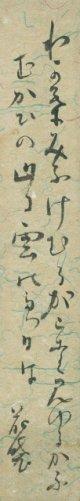田山花袋短冊「わか葉みふ」
