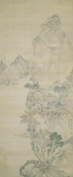 画像1: 釧雲泉画幅「山水図」