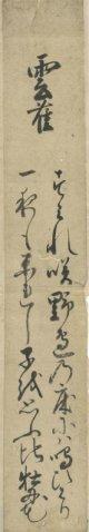 牡丹花肖栢短冊「雲雀」