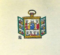 画像1: 川上澄生木版画「聖龕」