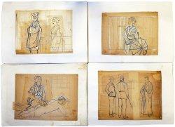 画像1: 清水三重三挿絵画稿「女刺青師」190枚