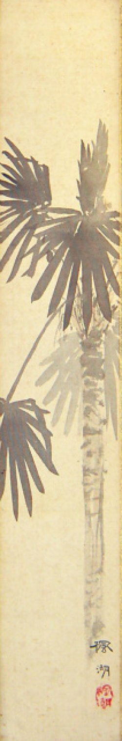 画像1: 松本楓湖絵短冊「棕櫚」