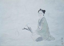 画像1: 小倉遊亀画幅「一葉女史」