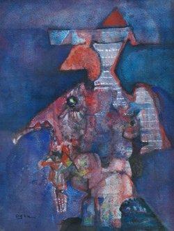 画像1: 小山田二郎画額「画家の像」