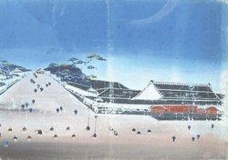 画像1: 泥絵額「霞ヶ関黒田屋敷」