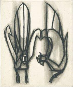 画像1: 杉山寧素描2枚