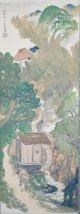 土田麦僊画幅「雨後」