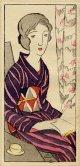 竹久夢二木版画18 童話