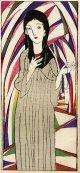 竹久夢二木版画10 聖女