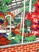 川西英木版画「花壇」