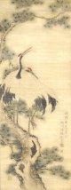 雄川白麟画幅「双鶴図」